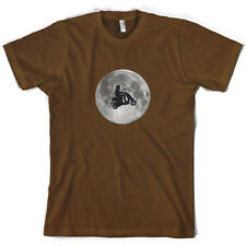 Moped Moon - Mens T-Shirt - Scooter - Mod - Motorbike - 10 Colours