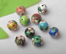 Mixed Color Cloisonne Enamel Round Spacer Beads 6MM 8MM 10MM 12MM 14MM 16MM