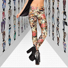 New Sexy Women 3D Digital Graphic Printing Skinny Leggings Tights Pants Trousers