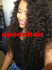 Brazilian  Remy 100 human Hair Lace Front Wigs 1b Natural color   curly