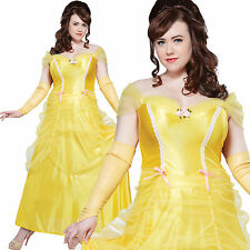 BELLE BEAUTY PLUS SIZE FANCY DRESS ADULT LADIES PRINCESS COSTUME
