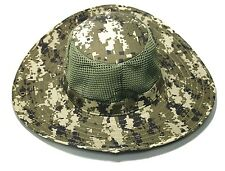 Camouflage Military Boonie Hat Wide Brim Cool Mesh Camping Fishing 3 Colors