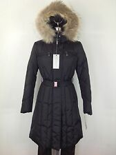 Andrew Marc NWT Black Real Coyote Fur Trim Hooded Warm Winter Down Parka Jacket