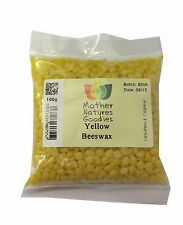 100g Beeswax Pellets - WHITE or YELLOW Pure Natural Cosmetics Grade