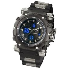 INFANTRY Mens Sport Quartz Military Army Chronograph Rubber Luxury Wrist Watch