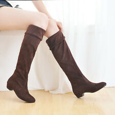 Spring new long knee high flat Sole boots women Wholesale shoes tube high