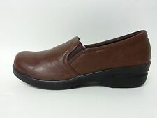 Scrubs RX Slip On Medical Nursing Shoes Clogs Brown