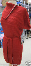 FYLO Sweater DRESS Wear2Ways CABLE KNIT in Orange SIZE Small Medium X-Large NWT