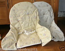 Mamas & Papas SAN REMO HIGHCHAIR SEAT COVER HARNESS BARNABY BUTTON MEADOW NEW