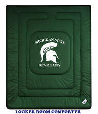 MICHIGAN STATE SPARTANS LOCKER ROOM COMFORTER AND SHAM SET
