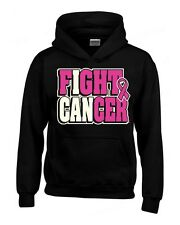 I can FIGHT CANCER Breast Cancer Awareness HOODIE pink ribbon hooded sweatshirt