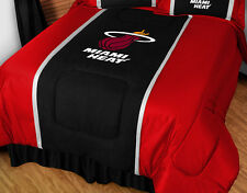MIAMI HEAT SIDELINES  COMFORTER AND PILLOW SHAM SET