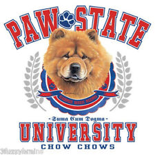 Chow Chow Puppy Dog Portrait Paw State University Graphic White T Shirt