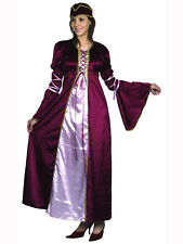 Royal Medieval Ladies Fancy Dress Book Character Tudor Maid Marion Adult Costume
