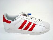 d3dbb1fa8 ADIDAS SUPERSTAR II MEN RUNNING WHITE RED SHOES FASHION STYLE ATHLETIC  G43681