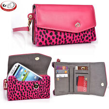 Kroo Mink Clutch Wristlet w/ Zipper Pocket for LG G2