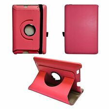 HOT PINK AMAZON KINDLE HDX FIRE 17.8cm INCH PU LEATHER 360 DEGREE ROTATING CASE