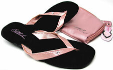 Sidekicks Foldable Flower Crystal Thongs Sandals Flip Flops Matching Case 5-11