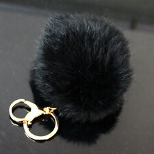 Lovely Imitation Fur Ball Handbag Key Chain Ring Cell Phone Car Pendant Gift Hot