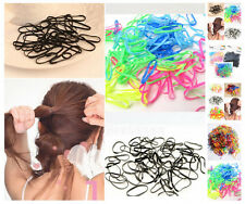 300pcs Rubber Hairband Rope Ponytail Holder Elastic Hair Band Ties Braids New