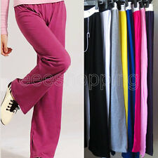 Womens Casual Loose Sports Pants Trousers Slacks Drawstring Elastic Sweatpants