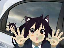 K-On! Nakano Azusa  Anime Reusable Static Window Cling Car Decal 002