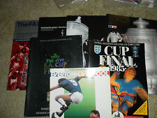 FA CUP FINAL PROGRAMMES - CHOOSE FROM LIST -  1985 - 2009