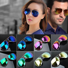Elegant Men Women Eyewear Fashion Aviator Reflective Sports Sunglasses SU