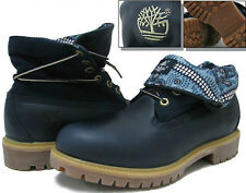 6824A New Timberland Men's  Rolltop Boots Color Navy Smooth  leather All Sizes