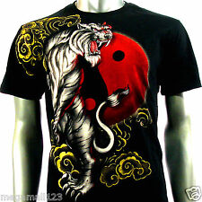 Artful Couture T-Shirt Sz M L XL XXL Tattoo Rock Tiger Yin Yang Japanese AB67