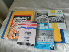 CHELSEA AWAY PROGRAMMES FROM 1971/2 - CHOOSE FROM LIST
