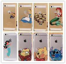 Ultra Thin Matte Cartoon Transparent Hard Case Cover for iPhone 4S 5S 6 6Plus