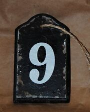 Wooden tag Hanging Shabby Rustic Stenciled Tiles House Address number 0 to 9