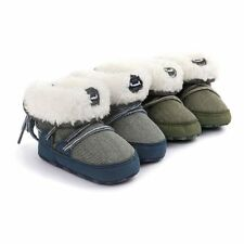 Winter Warm Baby Boy's Snow Boots Lace Up Soft Sole Shoes Infant Toddler Kid A62