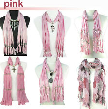 pink scarf group 6 styles jewelry scarf charms pendant scarves wholesale lot