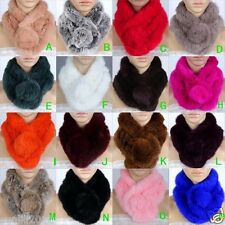 Winter women Real rabbit fur scarf shawl stole Scarves cape Wrap Collar Muffler