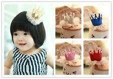 HO CA 1PC Baby Girls 5Colors Crown Pearl Princess Hair Clip Party Accessories
