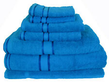 Aqua 100% Cotton Bath Towel Range 7 Pieces Set or Single Pieces Choice