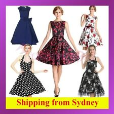 Rockabilly 50s Vintage Evening Retro Pinup Swing Cocktail Dance Formal Dress