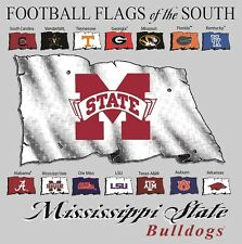 Mississippi State University Bulldogs Football Flags of the South T-shirt