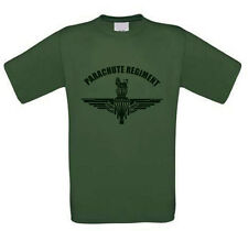 British Parachute Regiment, Large Black Print. 100% pre-shrunk Cotton T-Shirt