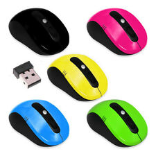 Cordless Optical Scroll Computer PC USB Mouse 2.4GHz Wireless USB Dongle 5COLORS