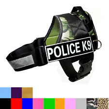 SEARCH & RESCUE SERVICE DOG Vest Harness Reflective Velcro Patches IN TRAINING