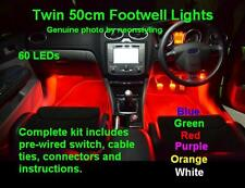 Extra Long 60 LED Interior Footwell Lights Vauxhall VXR Corsa C / D Irmscher SXI