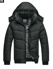 New Hot Men Winter Classic Black Warm Jacket Coat Hooded with Hat Coldproof 212