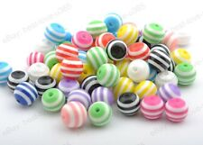 Wholesale 20-100pcs 6MM 8MM 10MM 12MM Zebra-Stripe Acrylic Round Spacer Beads
