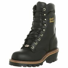 Chippewa Men's 25411 Super Logger Waterproof  Black Oiled Boot Made in USA