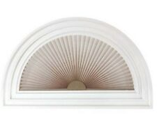 "NEW Half Round 1"" Arch Pleated Linen Shade Light-Filtering Window Shade Blind"