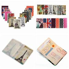 Stylish PVC Passport Holder Fashion Travel Case Simple Card Protector Cover US