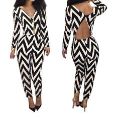 Womens Lady Outfit Bodycon Jumpsuit Romper Trousers Playsuit Cocktail Clubwear